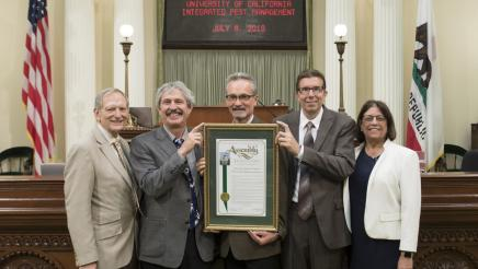 Assemblymember Quirk honors UC Integrated Pest Management's 40th anniversary